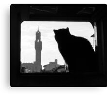 Silhouette, Florence Canvas Print