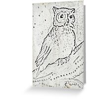WHOO WILL COLOR ME? Greeting Card