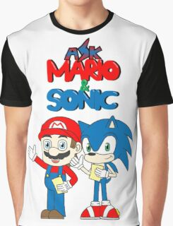 Ask Mario and Sonic Graphic T-Shirt