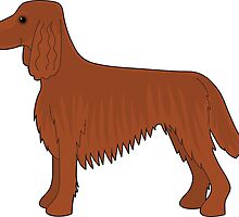 Irish Setter Dog by Maria Bell