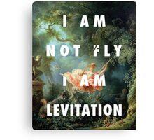 I AM NOT FLY, I AM LEVITATION Canvas Print