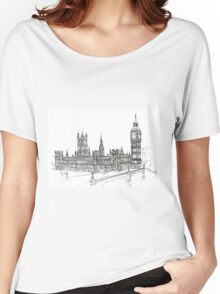 Pensil Drawing Women's Relaxed Fit T-Shirt