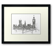 Pensil Drawing 578 Framed Print