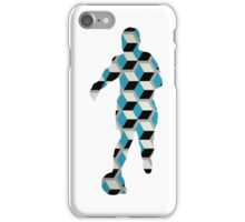 Geometric Blocks Footballer iPhone Case/Skin
