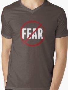 no fear Mens V-Neck T-Shirt