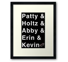 Ghostbuster names plus hot dog! Framed Print