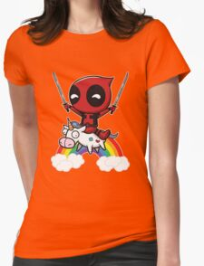 deadpool union Womens Fitted T-Shirt