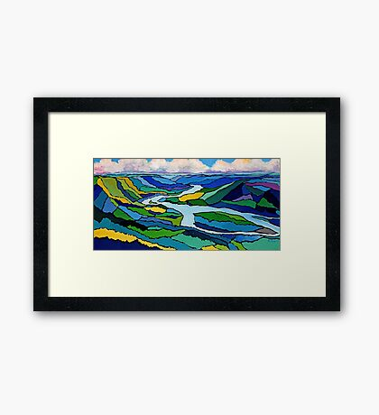 Peace River In Colour Framed Print