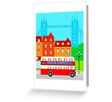 Double Decker 578 Greeting Card