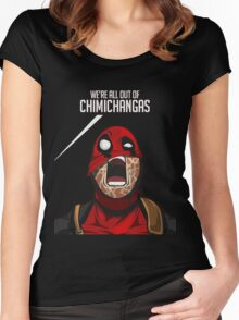deadpool pyscho Women's Fitted Scoop T-Shirt