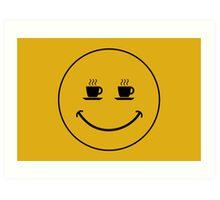 Smiley Coffee Art Print