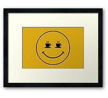 Smiley Coffee Framed Print