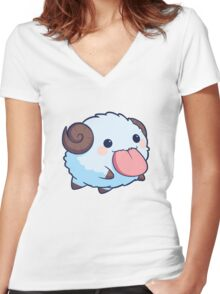 Cute Poros Women's Fitted V-Neck T-Shirt
