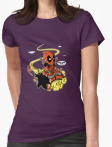 deadpool goku Womens Fitted T-Shirt