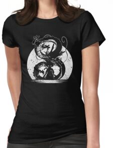 cool saiyan silhouette Womens Fitted T-Shirt