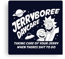 Rick and Morty Inspired Jerryboree Canvas Print