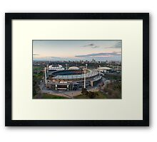 Melbourne Cricket Ground aerial view Framed Print