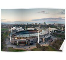 Melbourne Cricket Ground aerial view Poster