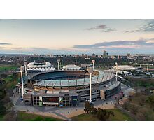 Melbourne Cricket Ground aerial view Photographic Print