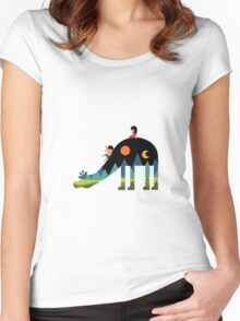 Multymind Girafee and the Brother Women's Fitted Scoop T-Shirt