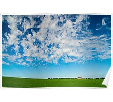 Green field and big skies near Ballarat Poster