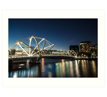 Seafarers Bridge in Melbourne, Australia Art Print