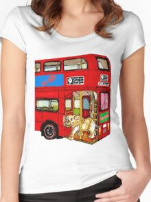 Elephant Bus Women's Fitted Scoop T-Shirt