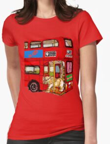 Elephant Bus 578 Womens Fitted T-Shirt