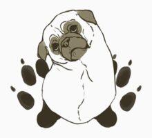 Pug & Paw Prints - Dark Kids Tee