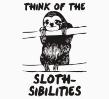 Think Of The Sloth-sibilities Kids Tee