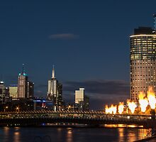 Crown Casino flame towers by Nils Versemann