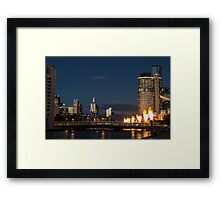 Crown Casino flame towers Framed Print