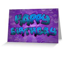 Old School Hip-Hop Birthday Greeting Card