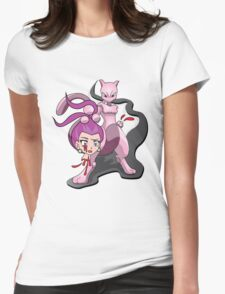 Mewtwo Kills Jessie  Womens Fitted T-Shirt
