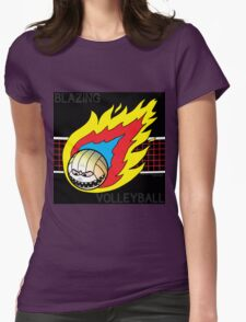 Blazing Volleyball Womens Fitted T-Shirt