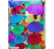 Colourful umbrellas iPad Case/Skin