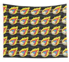 Blazing Volleyball Wall Tapestry