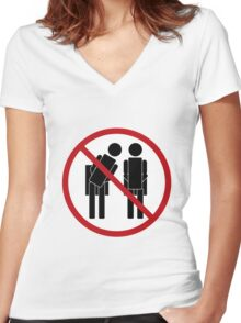 No Peeping Women's Fitted V-Neck T-Shirt
