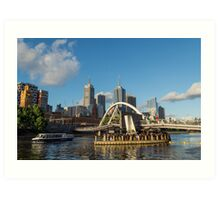 Southgate Footbridge in Melbourne, Australia Art Print