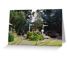 Menzies Creek Station Victoria Australia Greeting Card