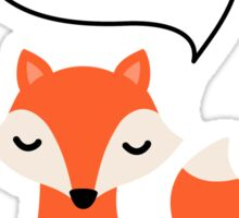 I love reading, cute cartoon fox Sticker