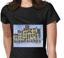 Piazza Anfiteatro Lucca 2015 pen and wash Womens Fitted T-Shirt