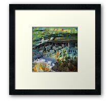 Buffalo Factory- Mesa Verde Framed Print