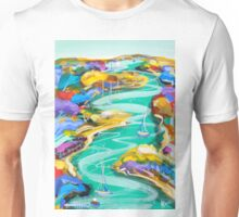 Watching the water flow Unisex T-Shirt