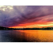 Colorful Sunset in Boston, Ma Photographic Print
