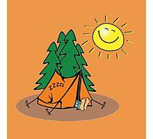 happy sleep camping Photographic Print