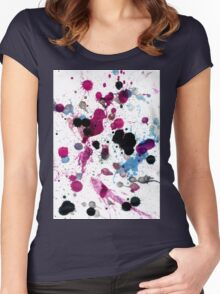 Colorful Paint Drips 14 Women's Fitted Scoop T-Shirt