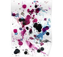 Colorful Paint Drips 14 Poster