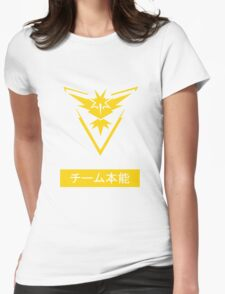 Team Instinct Pokemon Go Design Japanese Womens Fitted T-Shirt