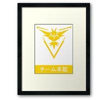 Team Instinct Pokemon Go Design Japanese Framed Print
